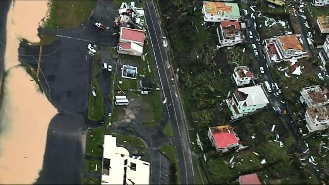 Hurricane Maria causes major damage in Dominica