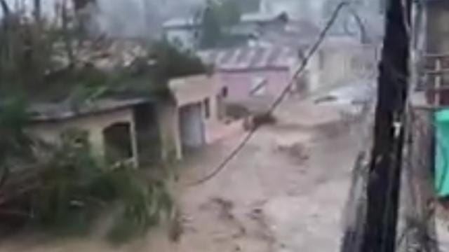 Streets look like rivers in Puerto Rico from hurricane