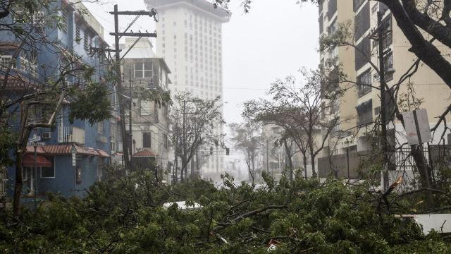 Hurricane Maria leaves Puerto Rico in The dark