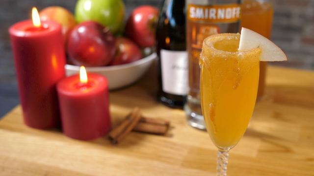 Say hello to fall with this caramel apple Bellini