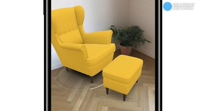 See how that couch would like in your living room in AR app from Ikea