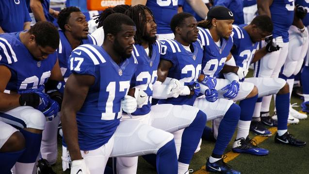 The National Anthem takes center stage across the NFL
