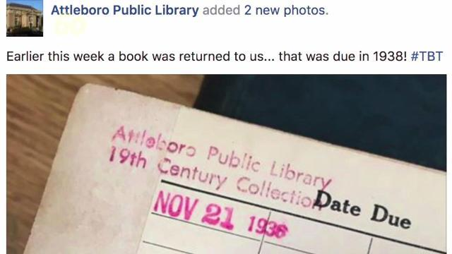 Someone returned a library book nearly 80 years after due date