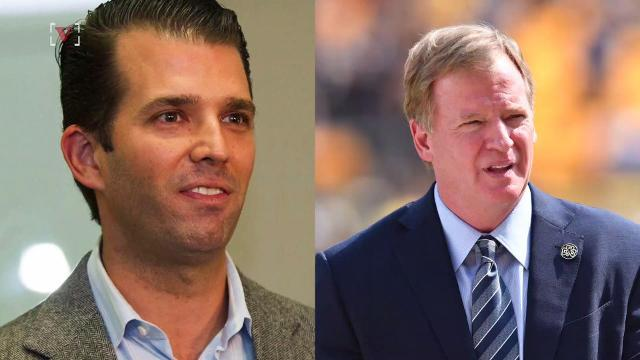 Donald Trump Jr. burns NFL's Roger Goodell