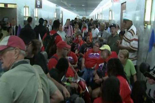 Protests erupt ahead of Graham-Cassidy health care hearing