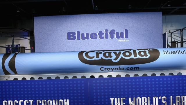 Crayola's new blue crayon has some seeing red