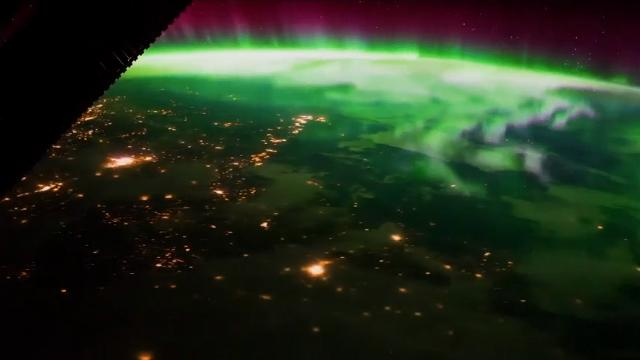 Astronaut shares amazing photo of northern lights from space