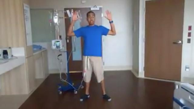 Cancer doesn't stop this man from getting his dance on
