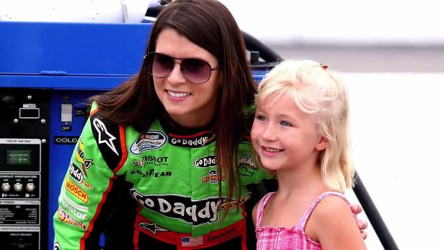 A group of NASCAR drivers discuss the accomplishments of Danica Patrick.