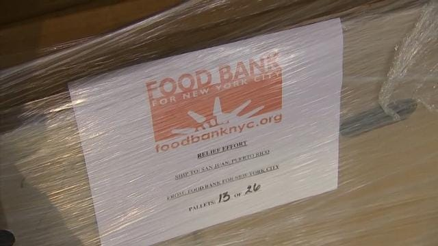 NYC food bank ships 20,000 meals to Puerto Rico