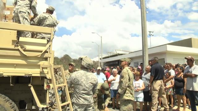 Raw: FEMA, Military deliver water in Puerto Rico