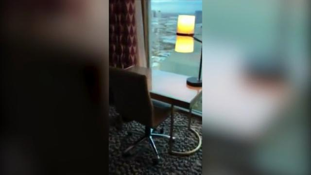 Video shows Vegas gunman's room in 2016
