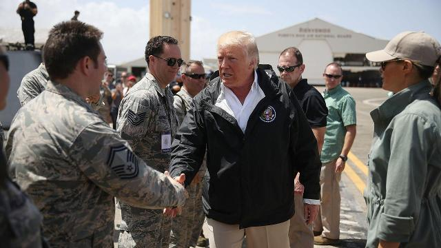 Trump tells Puerto Rico hurricane destruction killed U.S. budget