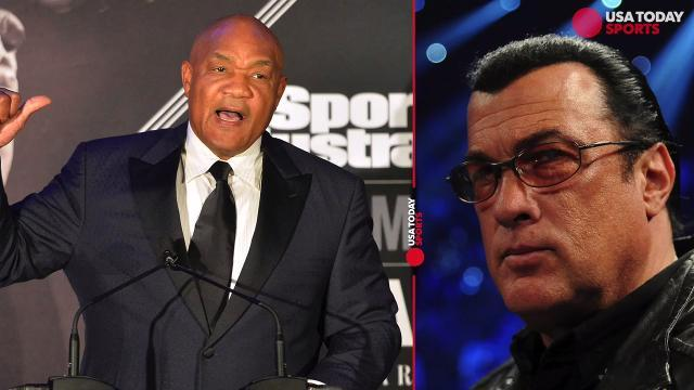 George Foreman challenges Steven Seagal to a fight