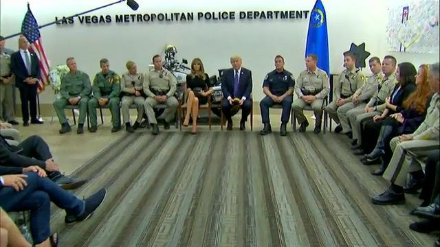 Trump hails Vegas police, firefighters as heroes