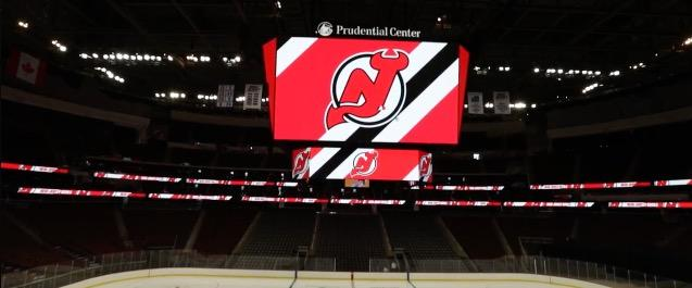 buy popular 8ab31 1a06a New Jersey Devils unveil massive scoreboard
