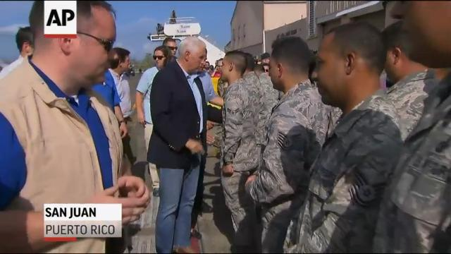Pence visits U.S. Virgin Islands and Puerto Rico
