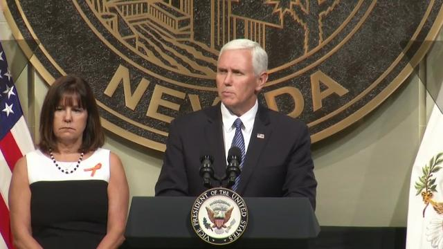 Pence Speaks of Hope at Vegas Prayer Service