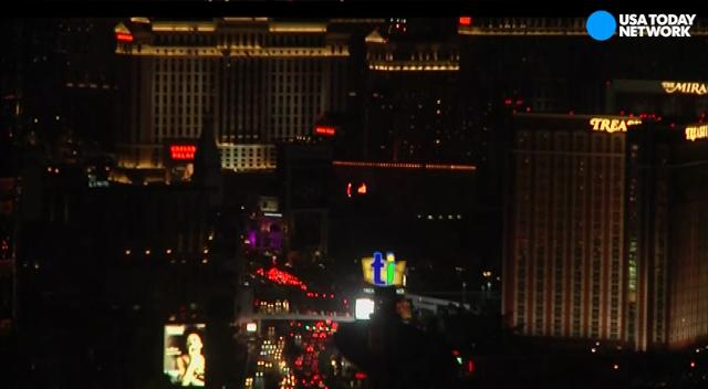 Las Vegas Strip goes dark to honor victims