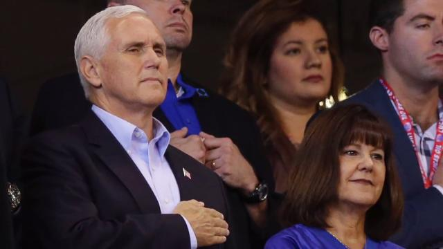 Image result for mike pence leaves football game