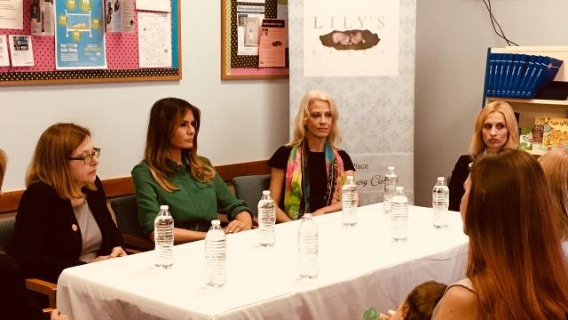 Melania Trump visits an opioid addiction clinic