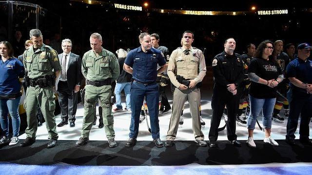 Vegas Strong: Golden Knights honor fallen at home opener