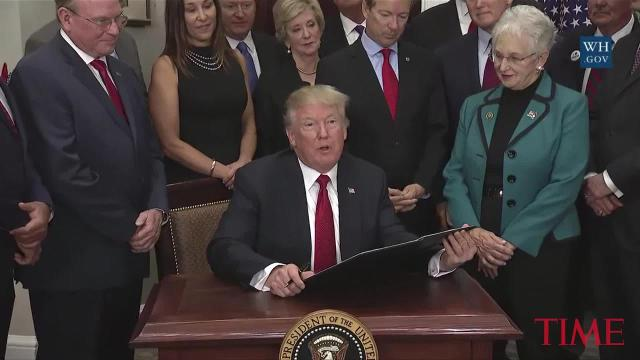 President Trump signs 'Obamacare Relief' executive order