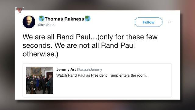 Rand Paul's reaction to POTUS's entrance goes viral