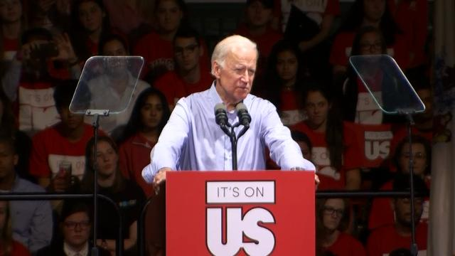 Biden takes aim at Weinstein
