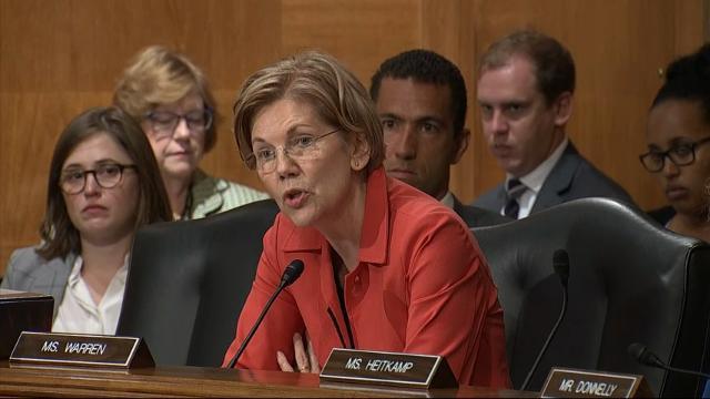 Senator calls for firing of Wells Fargo CEO