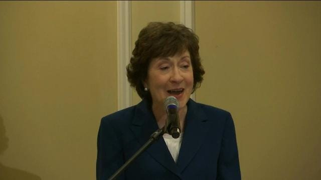 GOP US Sen. Collins Won't Run for Maine Governor