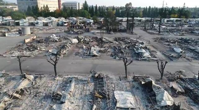 Apocalyptic drone video shows California wildfire wreckage