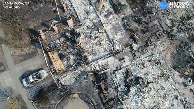Drone video: California neighborhood ruined by wildfire