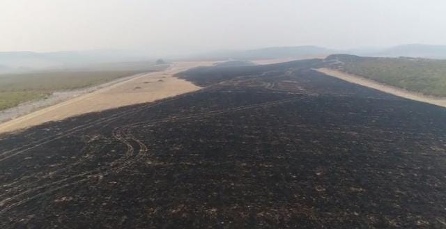 Drone footage shows charred wine country in California