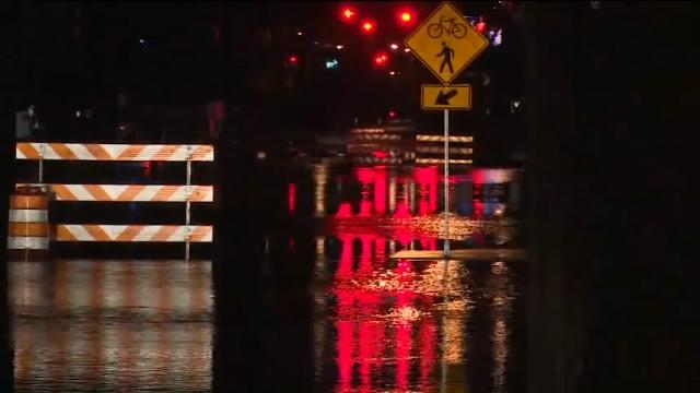 Raw: Floods close southwest Michigan streets