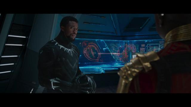 Chadwick Boseman stars as T'Challa, the king of a high-tech African nation, in the Marvel movie 'Black Panther.'