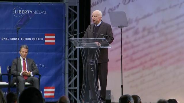 McCain Blasts 'Half-Baked, Spurious Nationalism'