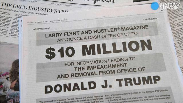 Larry Flynt offers $10M for evidence to impeach Trump