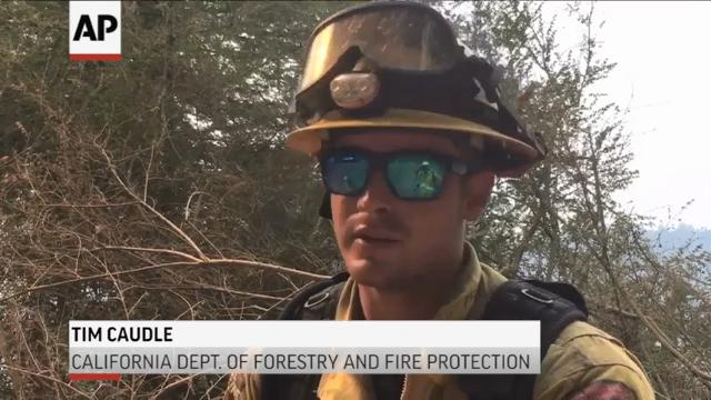 Crews battle new wildfire in Northern Calif.
