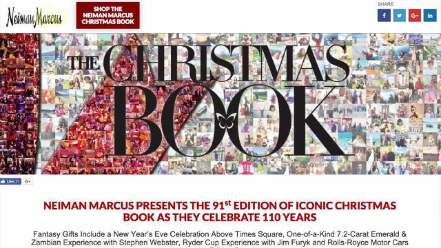Neiman Marcus Christmas Book: Their most outrageous gift ideas of 2017