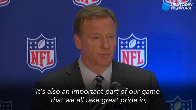 "NFL Commissioner: ""Everyone should stand"""