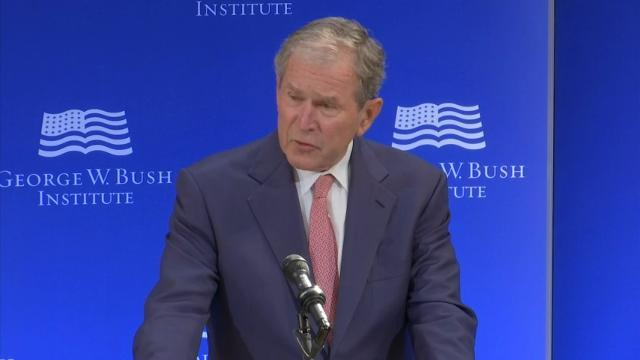 Bush: Bigotry, White Supremacy is Un-American