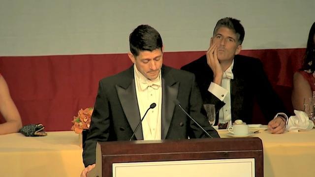 Paul Ryan pokes fun at Trump at charity dinner