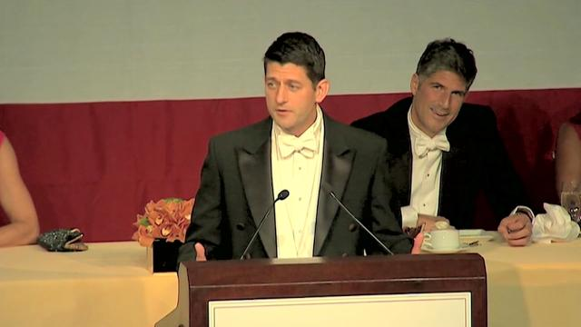 Speaker Ryan roasts Trump at Al Smith dinner