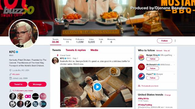 KFC follows only 11 people on Twitter and it's genius