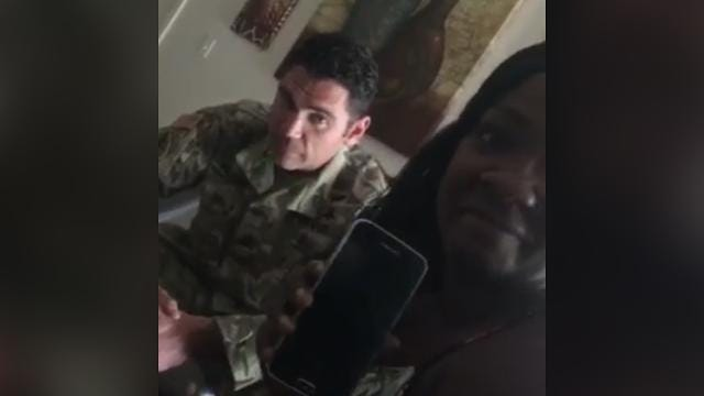 Listen firsthand: President Trump calls soldier's widow