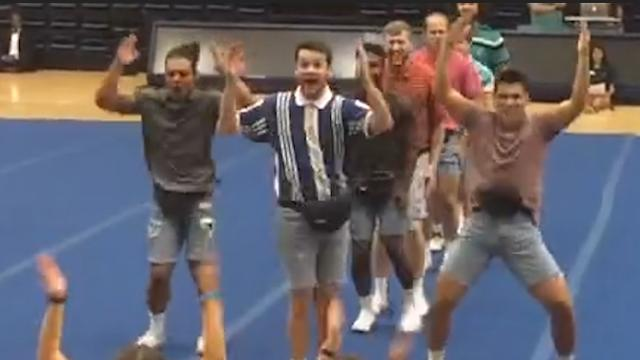 Frat brothers dance in jorts for a good cause