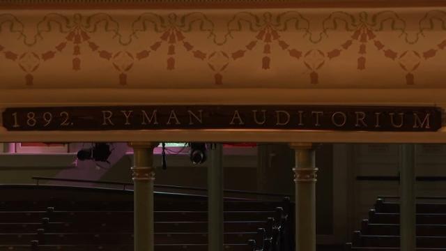 Musicians celebrate Nashville's Ryman Auditorium