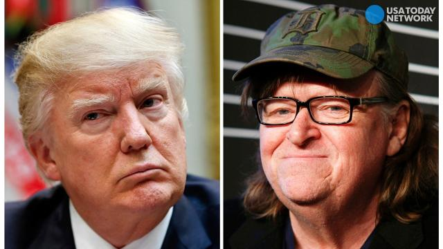 Trump targets 'sloppy' Michael Moore for Broadway show