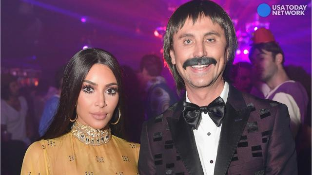 Kim Kardashian & Jonathan Cheban as Sonny & Cher for Halloween